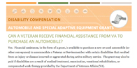 Automobile and Special Adaptive Equipment Grants Fact Sheet