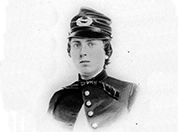 U.S ARMY Lieutenant Alonzo Cushing. West Point graduate and artillery officer.