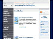 Image of the VBA Benefits Brochures webpage