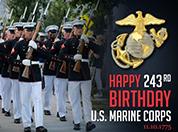 USMC marching
