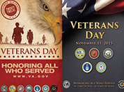 Two Veterans Day posters