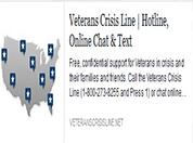 Veterans Crisis Hotline Banner Image