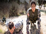 Picture of a man and women doing exercises