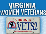 Virginia Women Veterans license plate example