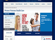 Image of the WomensHealth.VA.Gov  webpage