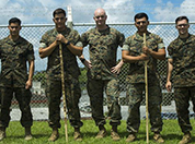 U.S. Marine Cpls. Otto Thiele, Eric Goodman, and Christopher Ehms, and Lance Cpls. Antonio Martinez, and Avelardo Guevera Osuna