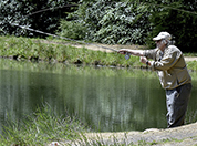 Veteran John Matherly fly fishing