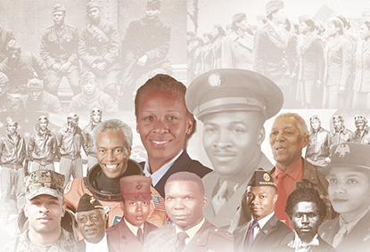 African American Veteran collage.