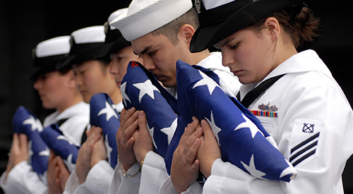 Navy flag bearers