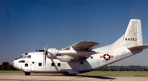 Air Force Fairchild C-123 plane
