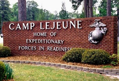Camp Lejeune sign.
