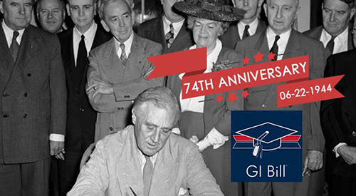 The signing of the GI Bill into law.