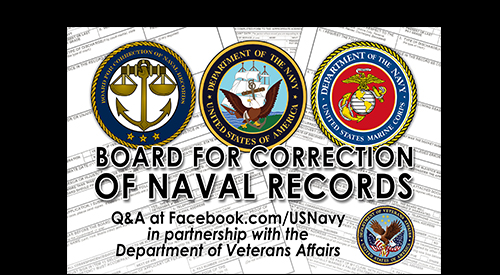 Board of Corrections for Naval Records Facebook chat on August 8, 2016.
