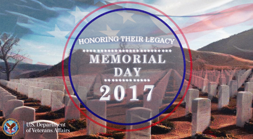 Honoring their legacy. Memorial Day 2017.
