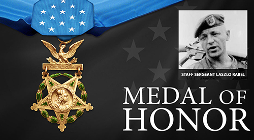 Medal of Honor recipient Laszlo Rabel