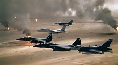 USAF-FA16 flying during Desert Storm