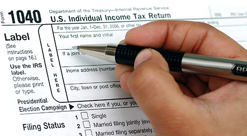 IRS form 1040EZ
