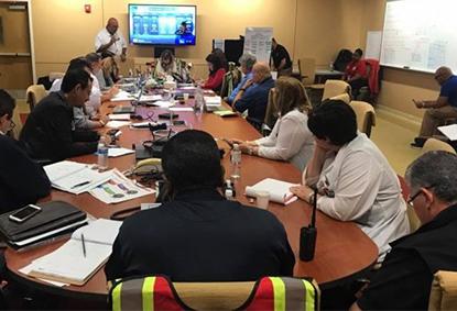 VA employees helping Veterans at VAMC