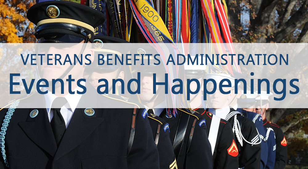 Veterans Benefits Administration events calendar.