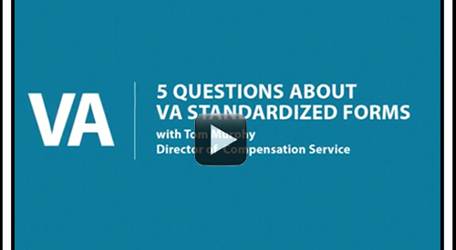 text 5 Questions about VA Standardized Forms with Tom Murphy, Director of Compensation Service