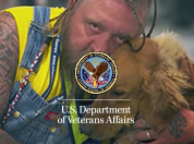A Veteran and his working dog