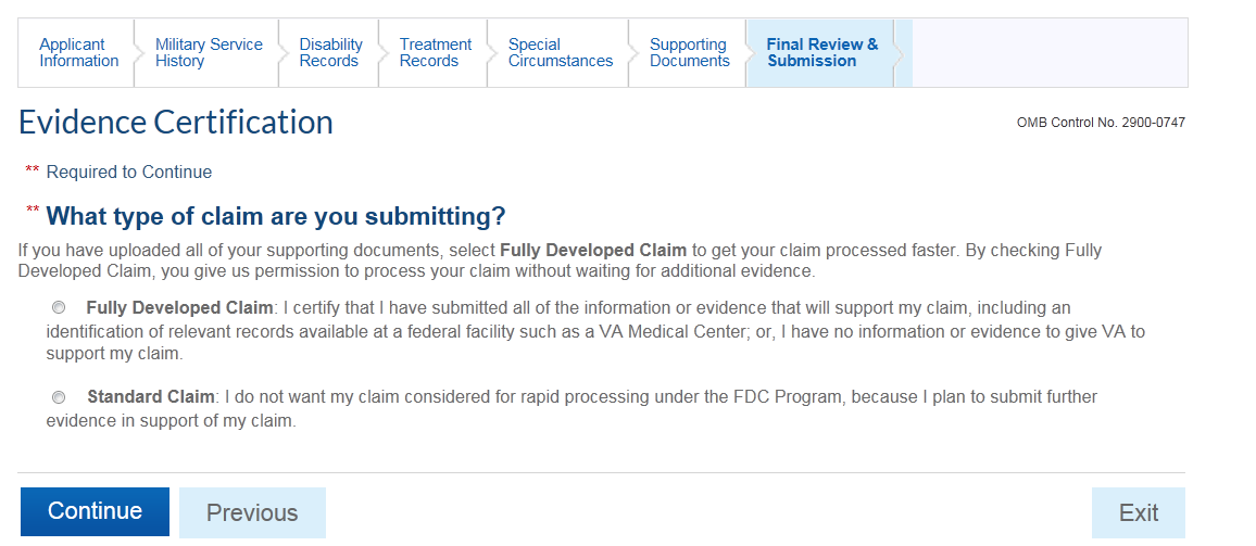 Fdc Walkthrough Fully Developed Claims