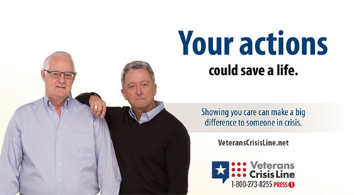 Support Matters. Veterans Crisis Line, 1-800-273-8255 Press 1, It's Your Call