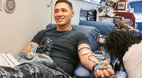 Navy Reserve blood drive.