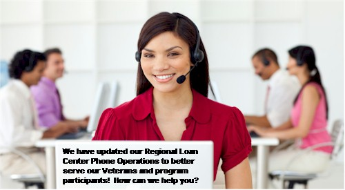 Regional Loan Center Phone Operations Changes