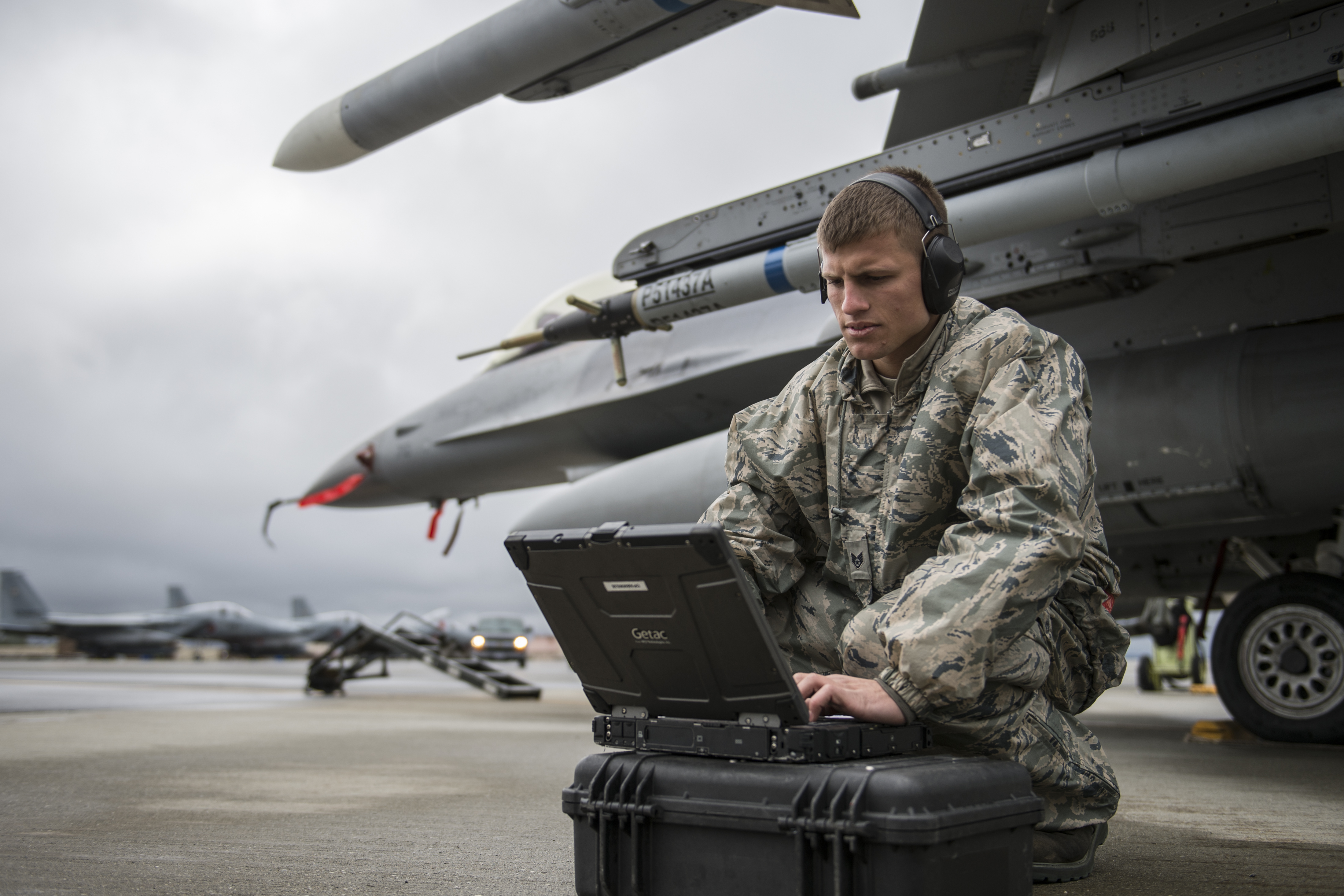 Air Force Member using SOES