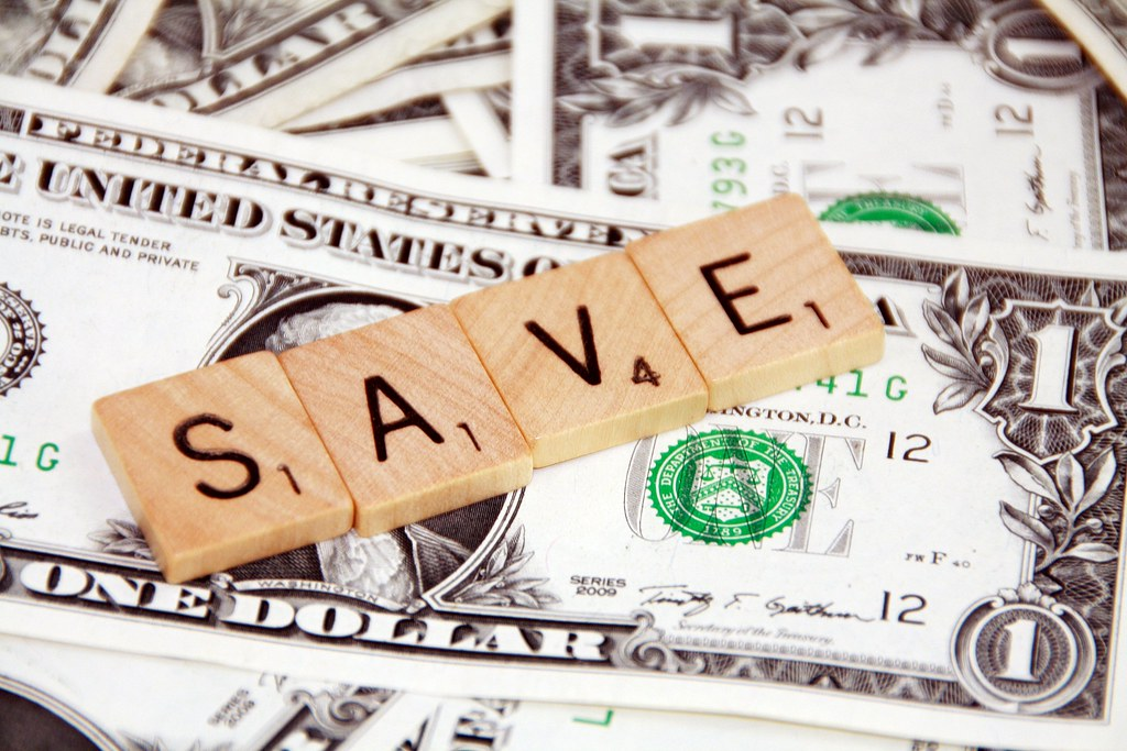 Image of scrabble letters spelling the word save