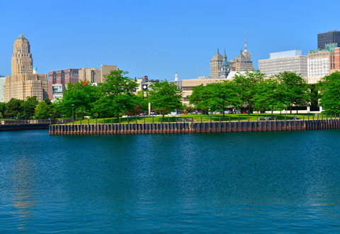 Buffalo, NY City Skyline