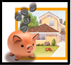 Piggy Bank in front of House image